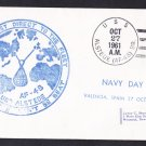 USS ALSTEDE AF-48 Navy Day Valencia Spain Naval Cover
