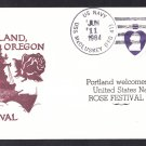 USS McCLUSKEY FFG-41 Portland Rose Festival Naval Cover
