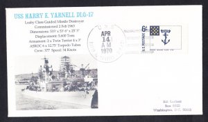 USS YARNALL DLG-17 Naval Cover MhCachets Only 1 Made