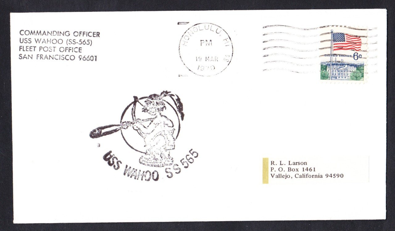 USS WAHOO SS-565 Honolulu Hawaii Naval Submarine Cover