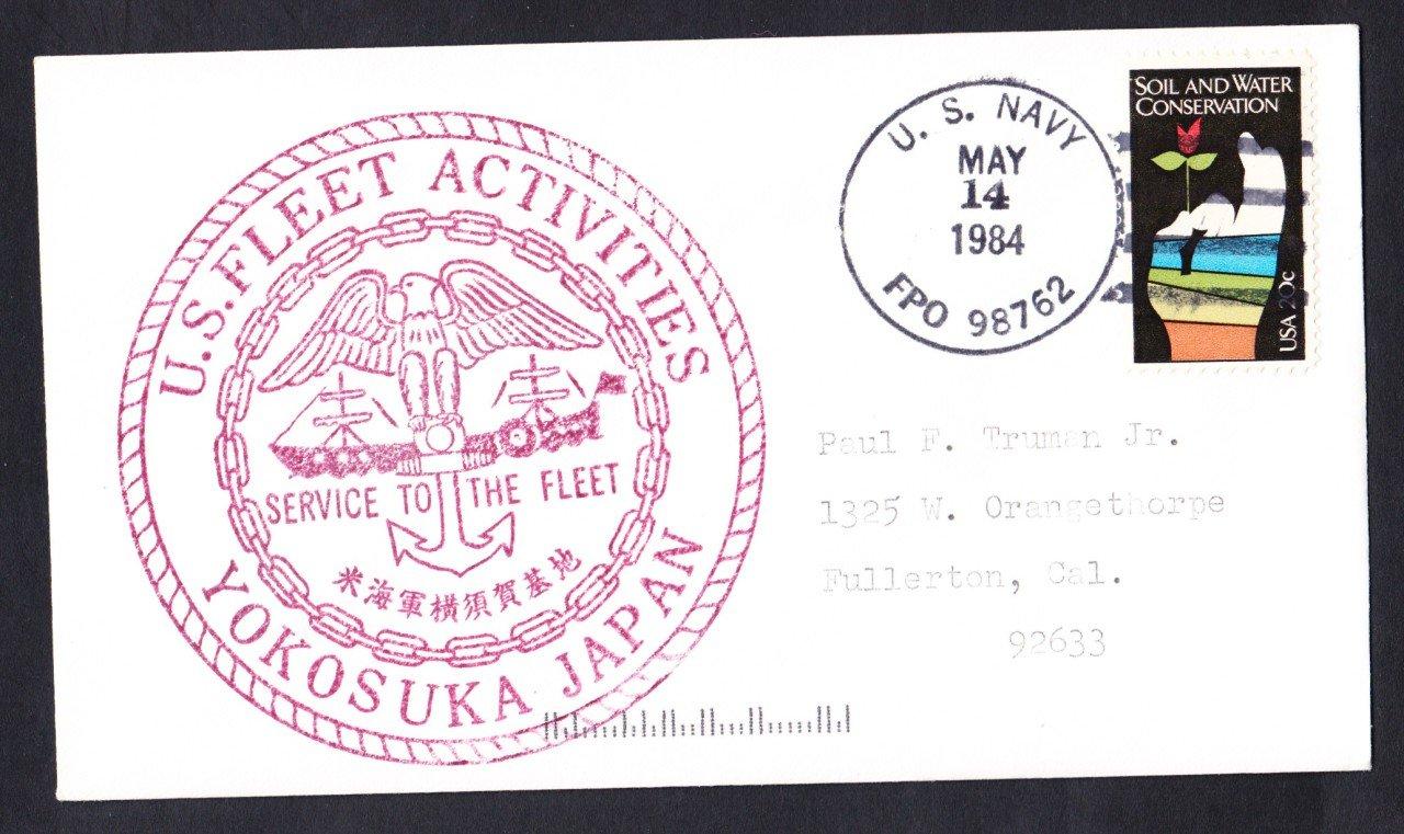 US NAVY FLEET ACTIVITIES BASE Yokosuka Japan Naval Cover