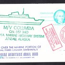 Merchant Ship Ferry M/V COLUMBIA Wash to Alaska Ship Cover