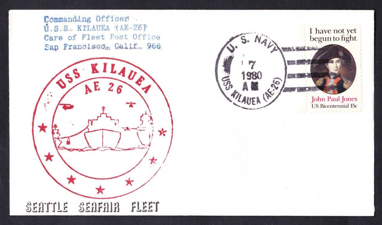 USS KILAUEA AE-26 Seattle Seafair Fleet Naval Cover