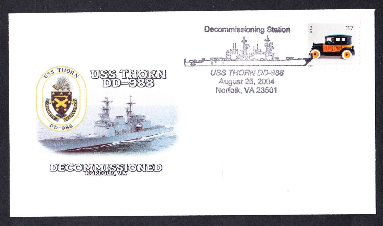 USS THORN DD-988 Decommissioning Naval Cover