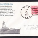 USS NEW DD-818 1952 Naval Cover MhCachets Only 1 Made