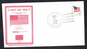 USS MILLER FF-1091 Navy Day 19768 Naval Cover