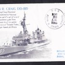 USS CRAIG DD-885 Naval Cover MhCachets Only 1 Made