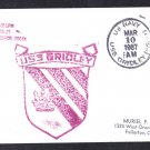 USS GRIDLEY CG-21 Ship's Cachet Naval Cover