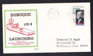 Amphibious Transport USS DUBUQUE LPD-8 LAUNCHING BECK #B643 Naval Cover