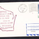 Cassville Wisconsin 1959 Post Office Dedication Cover