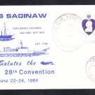 1984 USCS 28th CONVENTION USS SAGINAW LST-1186 Naval Cover