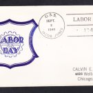 Destroyer USS JACOBS DD-130 Labor Day 1940 FANCY CANCEL Naval Cover