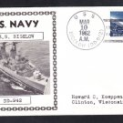 Destroyer USS BIGELOW DD-942 Photo Cachet Naval Cover