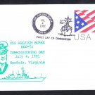USS ARLEIGH BURKE DDG-51 COMMISSIONING Fancy Cancel Naval Cover