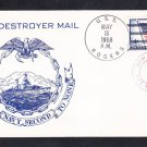 Destroyer USS ROGERS DDR-876 10th WESPAC CRUISE Naval Cover
