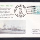 Attack Transport USS NEW KENT APA-217 Naval Cover MhCachets ONLY 1 MADE