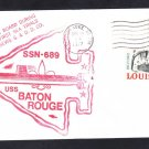 Submarine USS BATON ROUGE SSN-689 FIRST SEA TRIALS Naval Cover