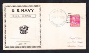 Gasoline Tanker USS NOXUBEE AOG-56 Fancy Cancel Naval Cover