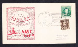 WWII Destroyer USS MORRIS DD-417 Navy Day 1940 Naval Cover