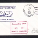 Canadian Navy Destroyer HMCS IROQUOIS Visit Norfolk VA 1956 Naval Cover