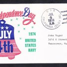 USS CALIFORNIA DLGN-36 INDEPENDENCE DAY BECK Naval Cover