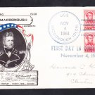 Cruiser USS MacDONOUGH DLG-8 COMMISSIONING Fancy Cancel Naval Cover
