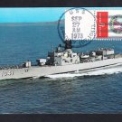 Destroyer Escort USS BRADLEY DE-1041 Naval Cover Ship Postcard