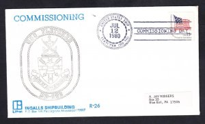 Destroyer USS FLETCHER DD-992 COMMISSIONING Fancy Cancel Naval Cover