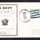 Destroyer USS MANLEY DD-940 Naval Cover