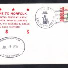 Canadian Navy Ship HMCS NIPIGON NATO Visit Norfolk VA 1970 Naval Cover