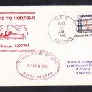 Canadian Navy Destroyer HMCS NOOTKA Norfolk VA 1960 Naval Cover