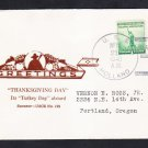 Submarine Tender USS HOLLAND AS-3 THANKSGIVING 1940 Pearl Harbor HI Naval Cover