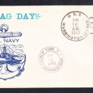 Destroyer USS WARRINGTON DD-843 Flag Day 1949 Naval Cover