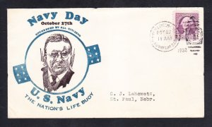 New London Submarine Base Navy Day 1932 Shore Station Naval Cover