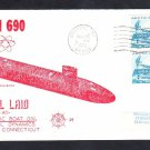 Submarine USS PHILADELPHIA SSN-690 KEEL LAYING NSC Cachet Naval Cover