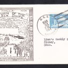 USS KASKASKIA AO-27 Black Ships Kanagawa Treaty with Japan 1954 Naval Cover