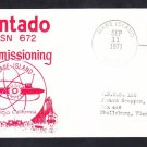 Submarine USS PINTADO SSN-672 COMMISSIONING Naval Cover