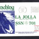 Submarine USS LA JOLLA SSN-701 LAUNCHING Naval Cover
