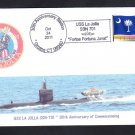 Submarine USS LA JOLLA SSN-701 30th Anniversary Naval Cover 6 MADE