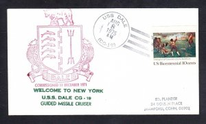 Guided Missile Cruiser USS DALE CG-19 Welcome To New York Naval Cover