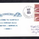 Guided Missile Destroyer USS FARRAGUT DLG-6 Norfolk VA Naval Cover