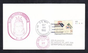 Guided Missile Cruiser USS CHANCELLORSVILLE CG-62 Naval Cover