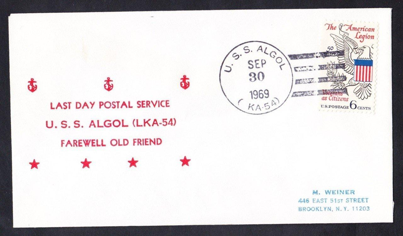 Attack Cargo Ship USS ALGOL LKA-54 LDPS Naval Cover