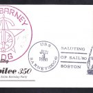 Guided Missile Destroyer USS BARNEY DDG-6 Fancy Cancel OPSAIL 1980 Naval Cover