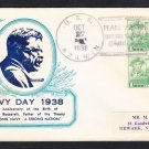 Destroyer USS AYLWIN DD-355 NAVY DAY Pearl Harbor Oahu T.H. 1938 Naval Cover