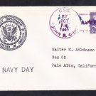 Destroyer USS JOHN R. CRAIG DD-885 NAVY DAY 1945 Naval Cover