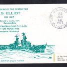 Destroyer USS ELLIOT DD-967 COMMISSIONING Naval Cover