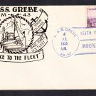 Minesweeper USS GREBE AM-43 INDEPENDENCE DAY 1935 FANCY CANCEL Naval Cover