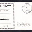 Guided Missile Destroyer USS GYATT DDG-1 Ship's Photo Cachet Naval Cover