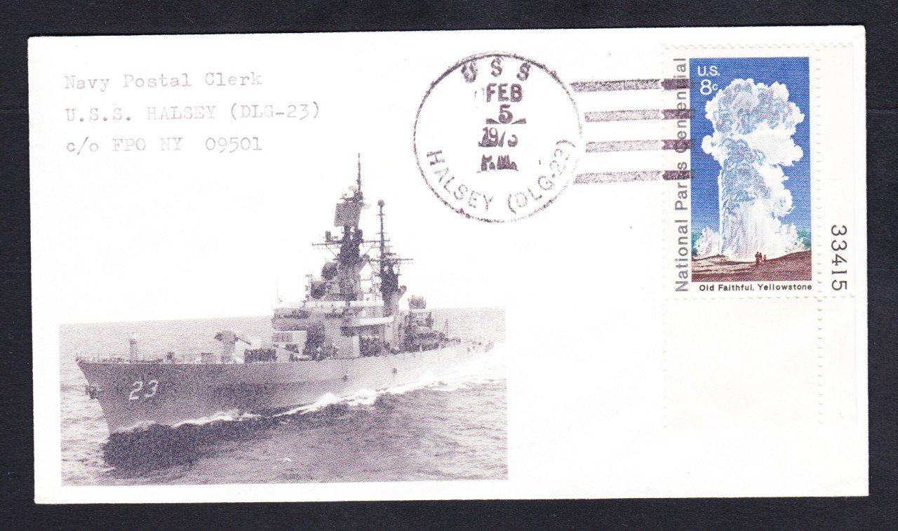 Destroyer USS HALSEY DLG-23 Naval Cover MhCachets ONLY 1 MADE